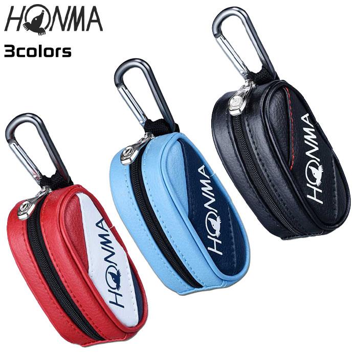 ホンマゴルフプロボールケースポーチ20PROBALLCASEブラックレッドサックスBC12001本間HONMA
