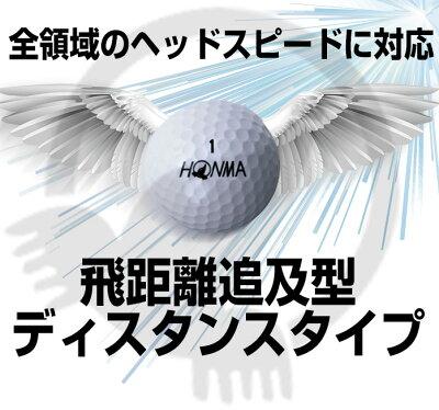 【期間限定で本間グローブプレゼント】 3ダースまとめ買いでプレゼント ホンマ ゴルフ ボール D1 D-1 飛距離 スピン 368ディンプル 2ピース ソフトアイオノマー 高反発ラバーコア 本間ゴルフ BT1801・・・ 画像2