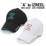 A by IZREEL ゴルフキャップ Z-1 スター刺繍、稲妻スマイリーなど、かわいいアイコンが散りばめらているキャップ イズリール