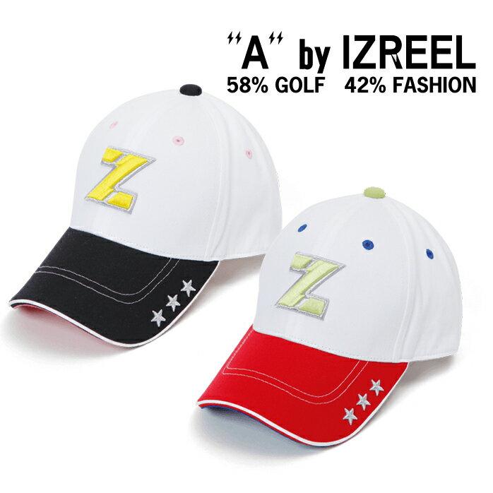 A by IZREEL ゴルフキャップ Z-2 スター刺繍、稲妻スマイリーなど、かわいいアイコンが散りばめらているキャップ イズリール outlet