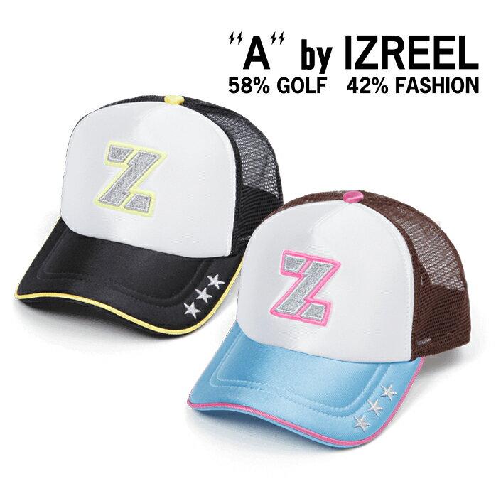 A by IZREEL ゴルフキャップ Z-3 スター刺繍、稲妻スマイリーなど、かわいいアイコンが散りばめらているキャップ イズリール outlet