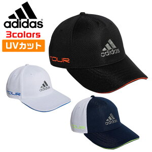 アディダス ゴルフ メンズ キャップ 帽子 ツアーメタリックロゴキャップ ツアーキャップ 紫外線カットUV50 AEROREADYスウェットバンド 全3色 adidas GUX84