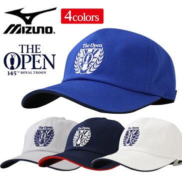 ミズノ ゴルフ キャップ メンズ The Open 56〜60cm 消臭効果 ベルト調節 全4色 綿100% mizuno 52MW9102 outlet
