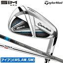テーラーメイド ゴルフ SIM MAX 単品アイアン ウェッジ #5 AW SW KBS MAX85 JP TENSEI BLUE TM60(IR) S R Taylor Made・・・