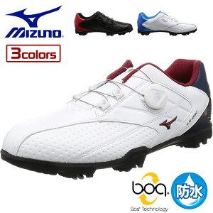 ミズノ Mizuno ゴルフ メンズ シューズ ライトスタイル002 ボア LIGHT STYLE 002 Boa スパイク 防水 軽量 51GM1760
