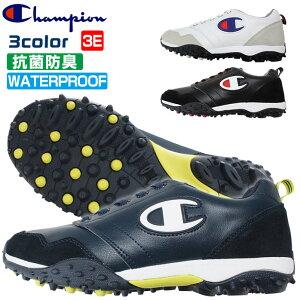 チャンピオン ゴルフシューズ スパイクレス メンズ レディース ユニセックス 幅広 3E 防水 抗菌防臭 Champion GL006