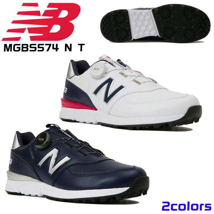 ニューバランス ゴルフシューズ メンズ スパイクレス MGBS574 N T BOAフィットシステム REVLITE 人工皮革 ゴム底 全2色 NEWBALANCE