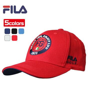 フィラ キャップ エンブレム調の刺繍がクール 全5色 フリーサイズ FILA 787-957