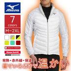 【お一人様一点限り】ミズノ MGムーブWテックフィル 長袖無地 ジャケット 発熱・赤外線・保温で着ているだけで温かい ブレスサーモ テックフィル メンズ Mizuno 52ME7502