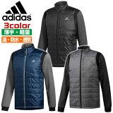 アディダス ゴルフ メンズ ジャケット 長袖 薄手 温かい 防水 通気性 収納 軽量 肌触りなめらか adidas EUY88 CY7455 防寒