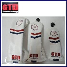 GTD【GeorgeTakeiDesign】Headcover3点SET[ドライバー用/460ccx1本,FW用x1本,UT用x1本]ジーティディヘッドカバー3点セット『ホワイト』