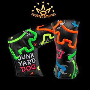 【送料無料】Scotty Cameron Custom shop Junk Yard Dog Black スコッティキャメロン カスタムショップ ヘッドカバー スタンダード フリースタイル ネオン ジャンクヤード ドッグ パターカバー