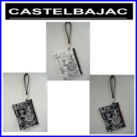 【送料無料】CASTELBAJACカステルバジャック合皮総柄プリント入りセカンドポーチ【23203-144】