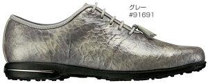 FOOTJOYレディースゴルフシューズTAILOREDCOLLECTION2017年モデル◆フットジョイゴルフシューズ靴くつ女性用FJテーラードコレクションホワイト白レザー防水天然皮革革スパイクレス