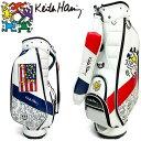 キースヘリング ゴルフ カート キャディバッグ American flag × Pattern KH...