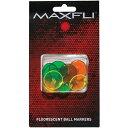 マックスフライ ネオン ボールマーカー(Maxfli Neon Ball Markers) 12個入 MX118 【200円ゆうメール対応商品】【ゴルフ】