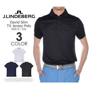 ゴルフウェア メンズ シャツ トップス ポロシャツ 春夏 おしゃれ (在庫処分)Jリンドバーグ J.LINDEBERG  デビッド スリム TX ジャージー 半袖ポロシャツ 大きいサイズ USA直輸入 あす楽対応