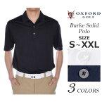 オックスフォード OXFORD ゴルフウェア メンズウェア ゴルフ バーク ソリッド 半袖ポロシャツ 大きいサイズ USA直輸入 あす楽対応