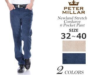 ピーターミラーPETERMILLARメンズパンツボトムニューランドストレッチコーデュロイ6ポケットパンツ大きいサイズ