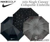 ナイキ 傘 ゴルフアンブレラ ゴルフ用傘 42in シングルキャノピー コラプシブル アンブレラ