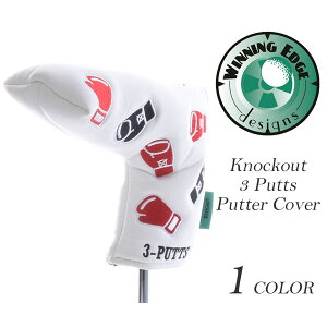 ウィニングエッジ WINNINGEDGE アニマルヘッドカバー ゴルフヘッドカバー ノックアウト 3パット パター カバー USA直輸入 あす楽対応