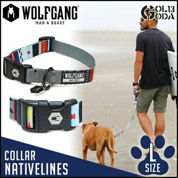 首輪 大型犬用 Lサイズ WOLFGANG MAN&BEAST NativeLines COLLAR アメカジ・ファッションとの相性も抜群