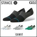 スタンス ソックス3足セット STANCE GAMUT SOCKS 靴下 メンズ アンクルソックス ショートソックス