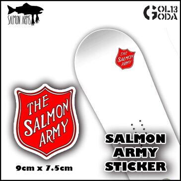 ステッカー SALMON ARMS VYNL STICKER サーモン アームズ シャケ 鮭 スノーボード用グローブ MITT ミット ミトン snowboard【ブラックフライデー】【サイバーマンデー】
