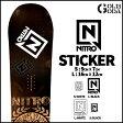 ステッカー NITRO STICKER DIECUT Lサイズ カッティング 字抜き スノーボード SNOWBOARD