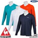 ルコック ゴルフ メンズ Vネック アンダーウエア クールコア クーリングTシャツ QGMLJM01