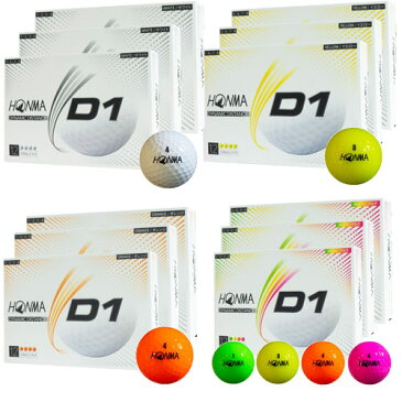 本間ゴルフ ホンマゴルフ HONMA 2020 D1 ゴルフボール 2020年モデル 3ダースパック [36球]