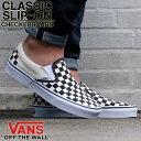 定番スニーカー VANS バンズ CLASSIC SLIP ON CHECKERBORAD クラシック スリッポン チェッカーボード ヴァン