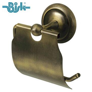 BISK(ビスク) DECO トイレットペーパーホルダー アンティーク 真鍮 幅11.5cm シングル 壁掛け ネジ付属 紙巻器 ゴールド ステンレス