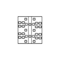 除雪機用ゴムクローラG1-207234SN200x72x342本セット送料無料!