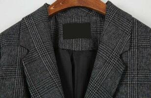 グレンチェック柄テーラードジャケットライトアウター羽織りフォーマルオフィス春裏地ありビジネスレディース通勤フォーマルジャケットシンプル上着大人