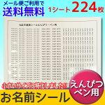 えんぴつ・ペン用お名前シール_5漢字もOK!1シート224枚入りメール便送料無料入学・入園グッズ