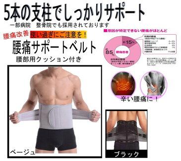 父の日 プレゼント 使い過ぎに注意! 腰痛ボーン 5本支柱で支える 腰痛改善ベルト コルセット 産後 骨盤矯正 ダイエットにも使える!