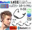 送料無料 最軽量モデル 音楽 通話もOK Bluetooth 3.0 ワイヤレス イヤホン(イヤフォン)スポーツイヤホン H-S9