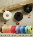 【ネコポス可】手縫いロウビキ糸 25m巻【細】20/6 クラフト社