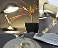 【アンティーク卓上ライト(照明)】CLASSIC【レトロ】【デスクライト】【テーブルライト】【壁掛け可能】【丸み】【コンパクト】【角度調節】【中間スイッチ】【インテリア】【GOLD/ゴールド】