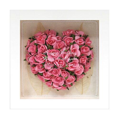 名入れ かわいい 結婚祝い かわいい 開店祝い 名入れギフト -アートフレーム ローズブーケ ピンク-...