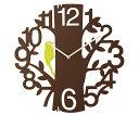 楽天おしゃれ 壁掛け時計 かわいい オシャレ PICUS [時計/壁掛時計/掛け時計/新築祝い/デザイン時計/ブラウン茶色/ホワイト白色/鳥/ウォールクロック/お洒落/結婚祝い/開店祝い/カフェインテリア/友達/友人/大きい/軽い/贈物/壁掛け時計/カワイイ/おくりもの/柱時計/贈り物/欧風]
