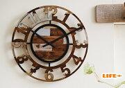 おしゃれ 掛け時計 アンティーク ウォール クロック ユーズド オシャレ プレゼント ラッピング ホワイト デザイン