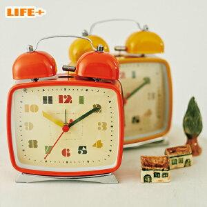 アラーム おしゃれ オシャレ アラームクロック プレゼント 置き時計 オレンジ イエロー シンプル