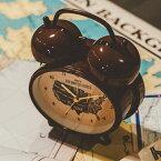 おしゃれな目覚まし時計-Rozel Bell-[めざまし時計 珍しい時計 オシャレ ラッピング 音が大きい アラームクロック デザイン時計 誕生日プレゼント ギフト ユニーク アメリカ合衆国 地図 マップ 勉強 黒色ブラック 茶色ブラウン クール カッコいい ツインベル 大音量 スヌーズ