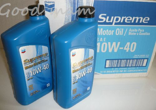 Supreme oil(10W-40)シェブロン エンジンオイル(カー用品)946ml×12本 Supreme CHEVRON 1 Moter Oil 10W-40 シェブロン モーターオイル 10W-40W シェブリーム