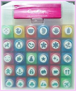 カーラクラフトCarla Craftミニペーパーパンチセット(30個入) 図柄30種類 (ピンク)ミニペー...