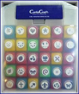 カーラクラフトCarla Craftミニペーパーパンチセット(30個入) 図柄30種類 (青)ミニペーパー...