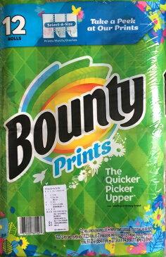 【大人気】(柄あり)バウンティ キッチンペーパータオル 12ロール バウンティー12メガロール 123カット バウンティ キッチンペーパー 12ロール Bounty 12megaRolls【コストコ通販】