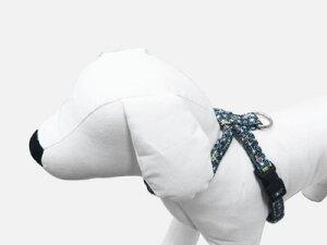 小~中型犬用和柄生地で作った商品です。赤・紺から選べます。犬 ハーネス 和風シリーズ ち...